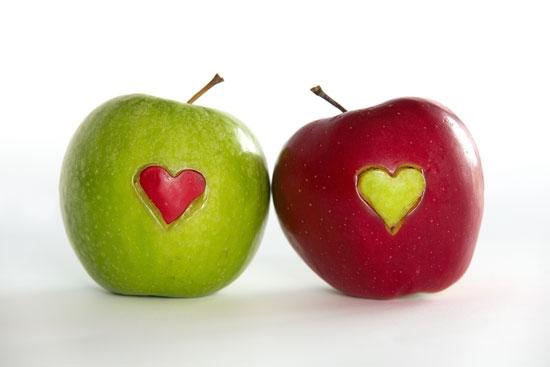 Parte della stessa mela